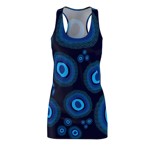 Nazar Blue Women's Cut & Sew Racerback Dress