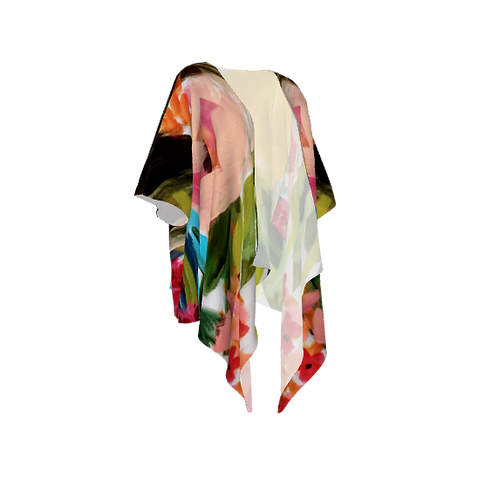 Painterly Draped Kimono