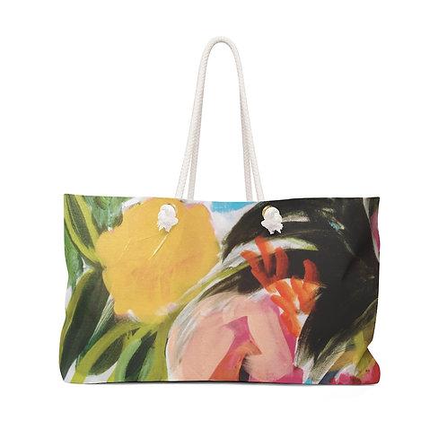 Painterly Bouquet Weekender Bag