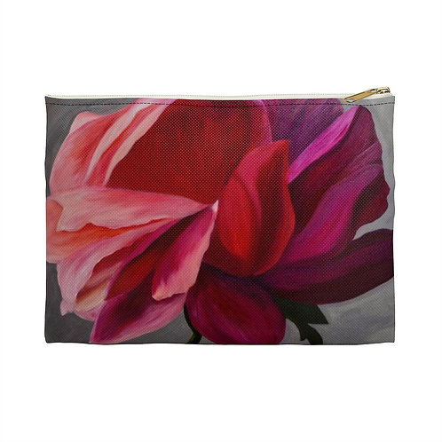 Coral Peony Accessory Pouch