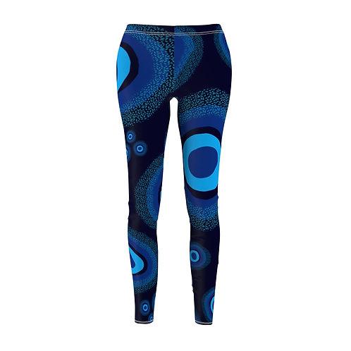 Nazar Blue Women's Cut & Sew Casual Leggings