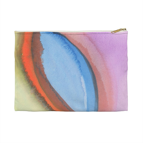 Watercolor Abstract Accessory Pouch