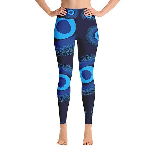 Nazar Blue Yoga High Waisted Yoga Leggings