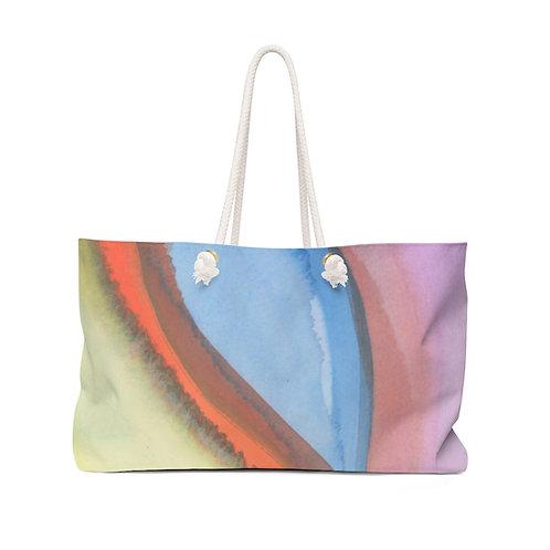 Watercolor Abstract Weekender Bag