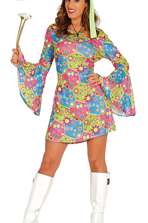 Disfraz Hippie Flower adulta