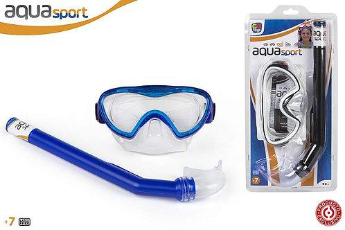 Gafas y tubo de buceo