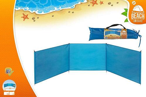 Paravientos de playa plegable, 200 x 75 cm (53442)