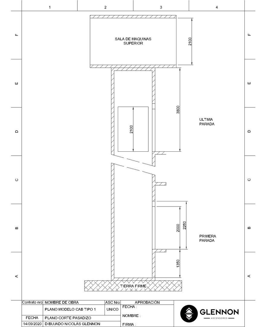 Corte Pasadizo electromecanico