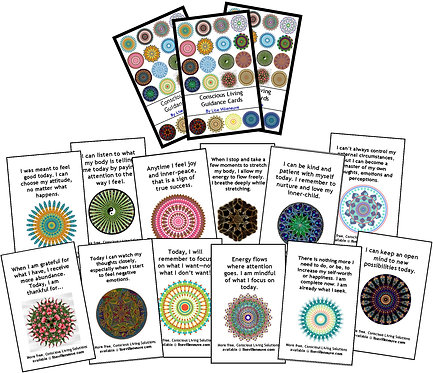 Deck of 56 Conscious Living Guidance Cards (printable download)