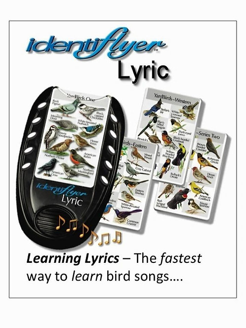 The IdentiFlyer Lyric with 2 SongCards - 40 backyard birds