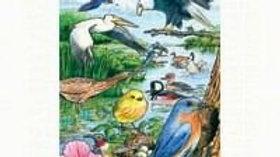 North American Birds Tray Puzzle 35 piece Puzzle