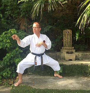 karate stance in okinawa