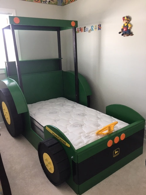 Tall Tractor Bed with Steering Wheel