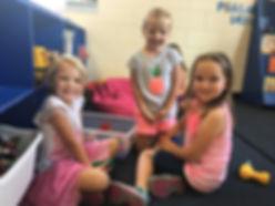 Preschool children playing at school