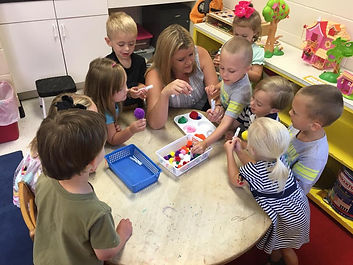 Preschool parents day out children learning