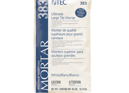 Mortier polymère Ultimate blanc 40lbs