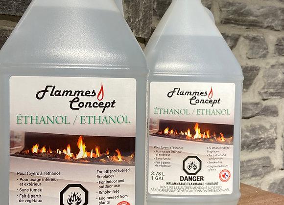 Éthanol flamme concept