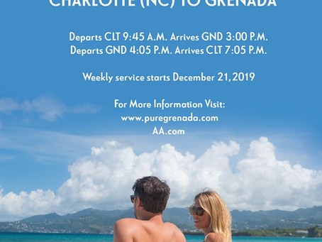 New American Airlines Flight to Grenada