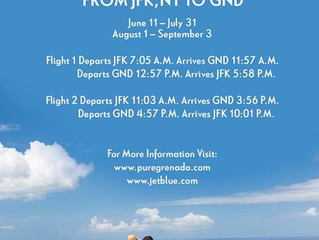 Additional JetBlue Flights to Grenada