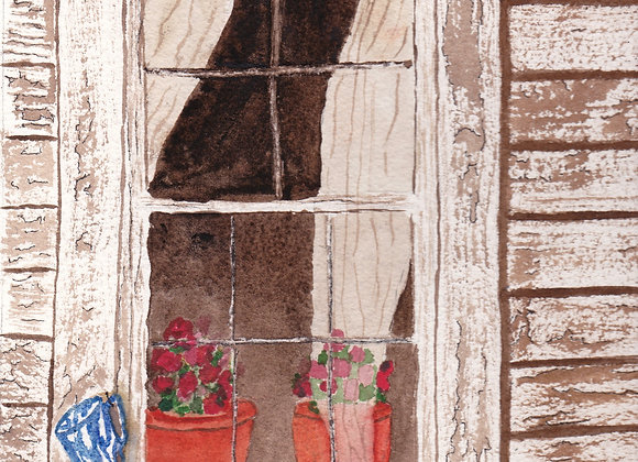 Otis's Window - Original Painting