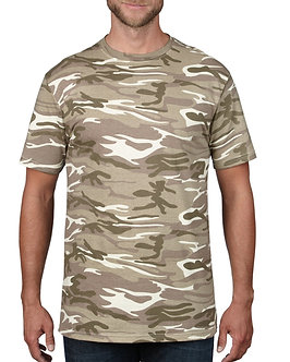 JES- 939 Anvil Adult Midweight Camouflage Tee