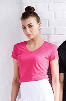 JES-63V00L Gildan Softstyle Ladies V-neck Tshirt