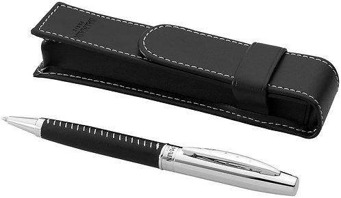 DON-19982156 LEATHER WRAPPED BARREL BALLPOINT PEN