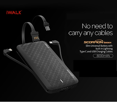 AX-iWalk Scorpion Powerbank 8000mAh