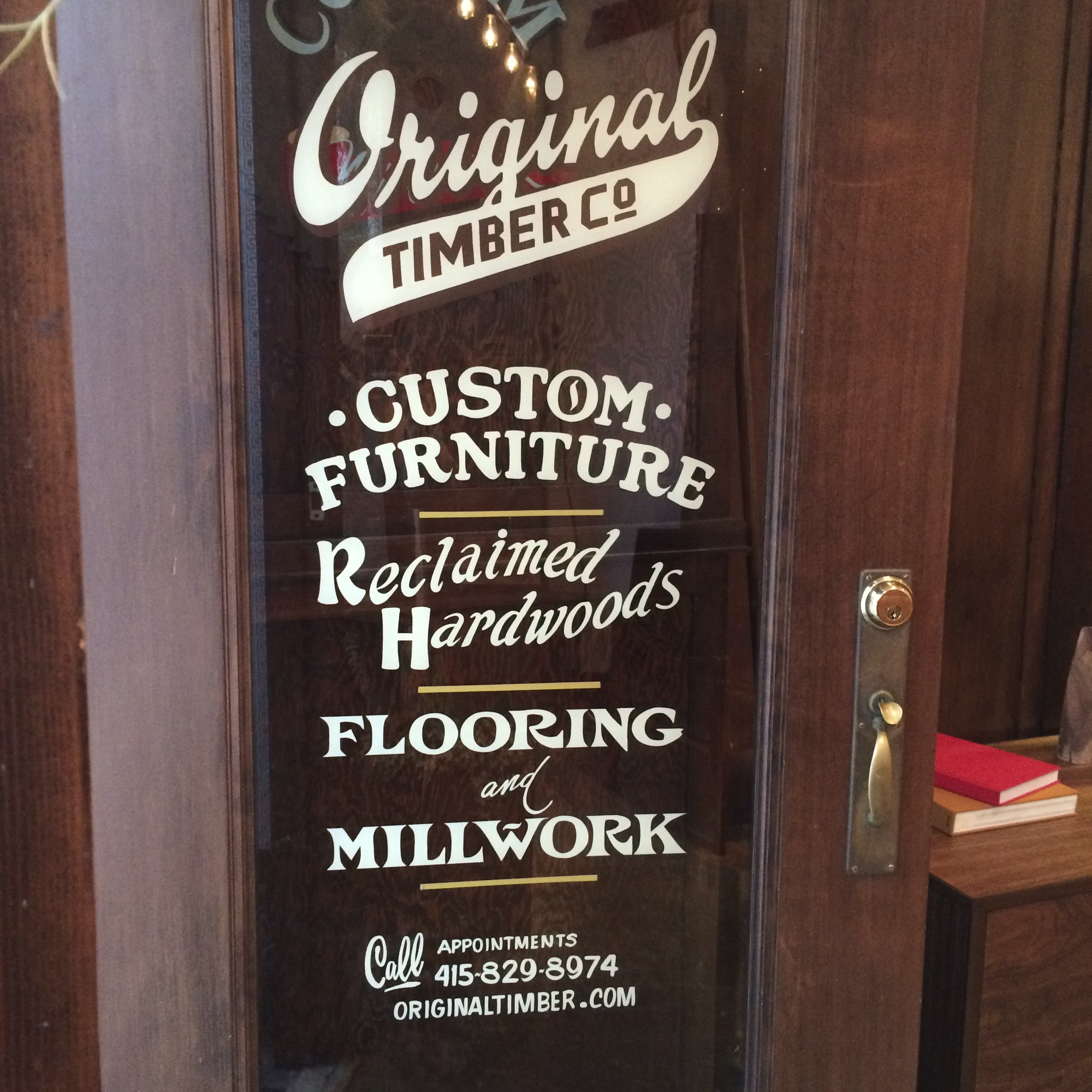 Original Timber SF door lettering