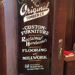 Original Timber SF door lettering