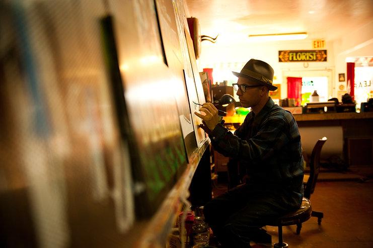 Golden West Sign Arts, Sign Painter, Derek McDonald