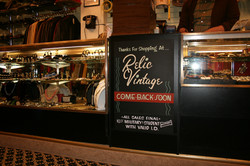 Relic Vintage show card