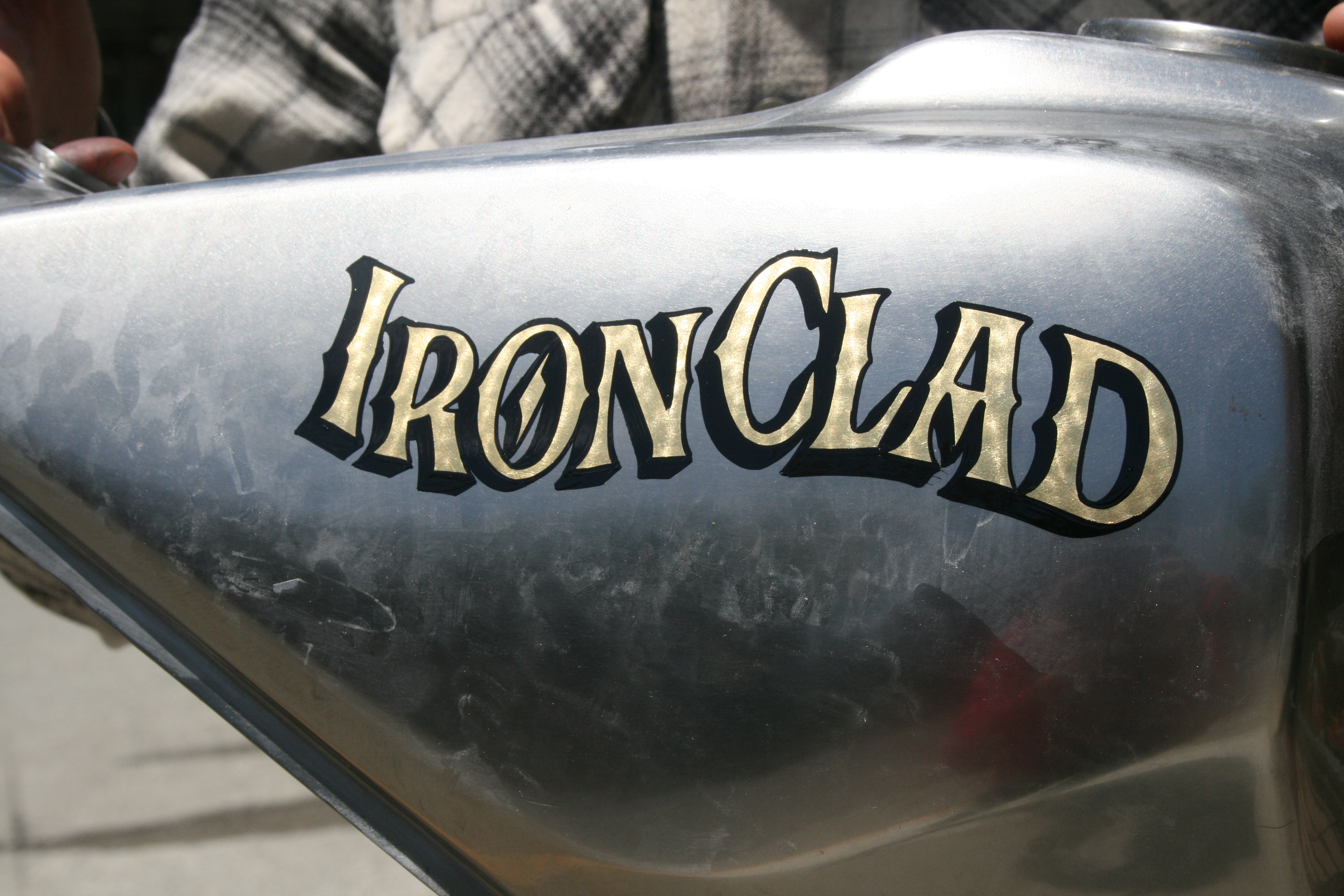Gold Leaf on motorcycle tank