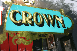 Iron Crown gilded window