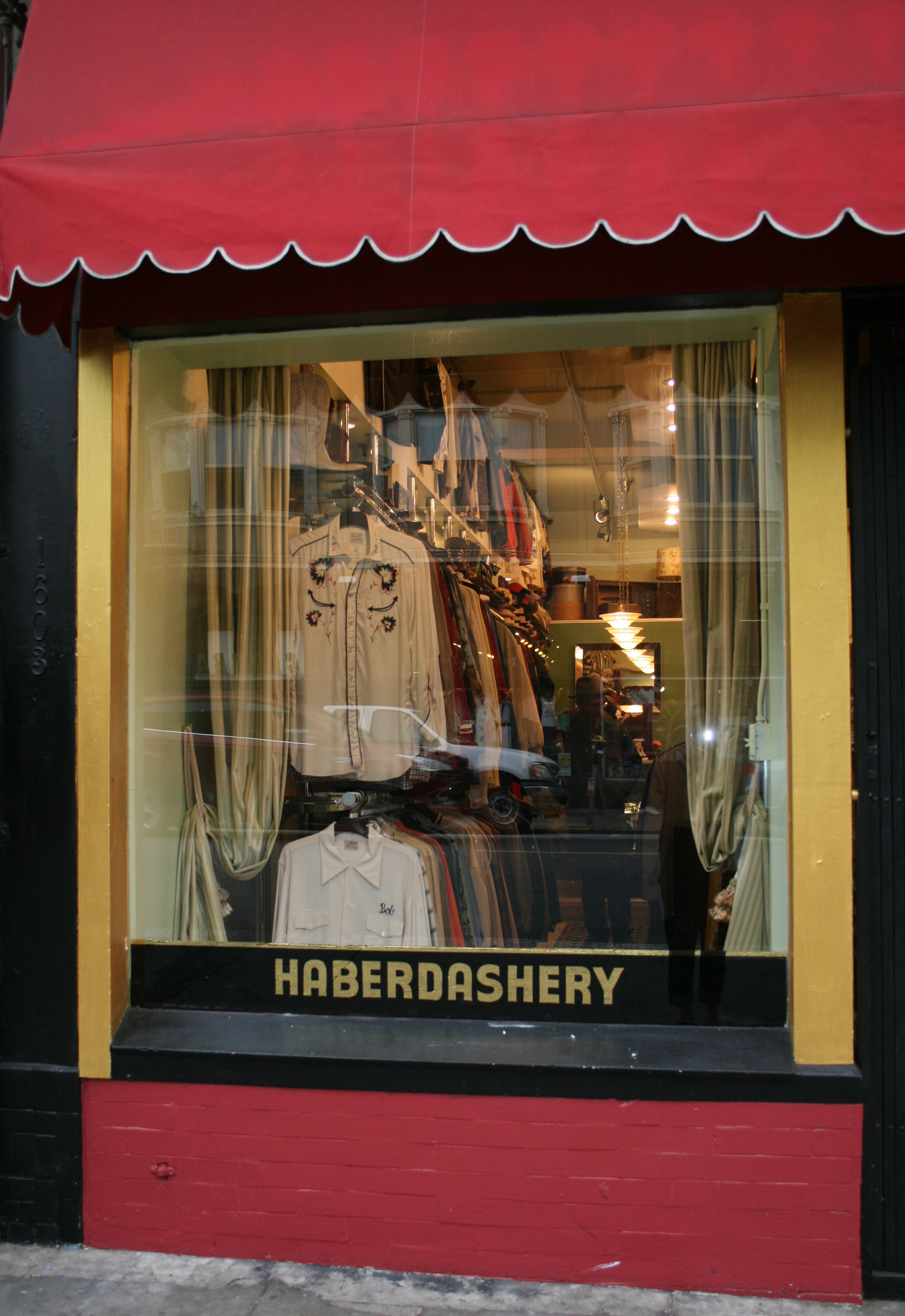 Haberdashery window