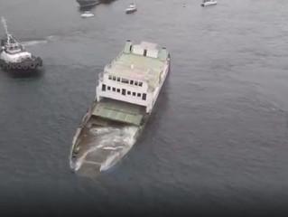 Novas embarcações são afundadas na Baía de Todos os Santos para a formação de recifes artificiais