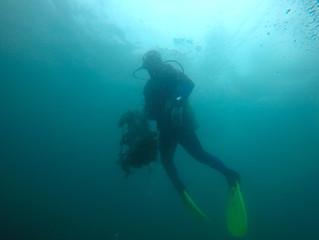 Limpeza sub nas Ilhas Cagarras
