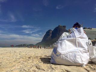 Limpeza de praia em São Conrado com a Parley