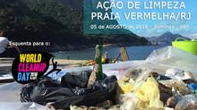 Dia de limpeza na Praia Vermelha