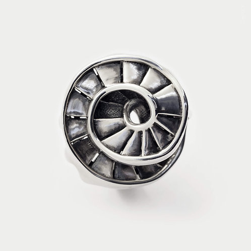 Helical Stair Ring, Sterling Silver Architecture Inspired Contemporary Jewellery Design
