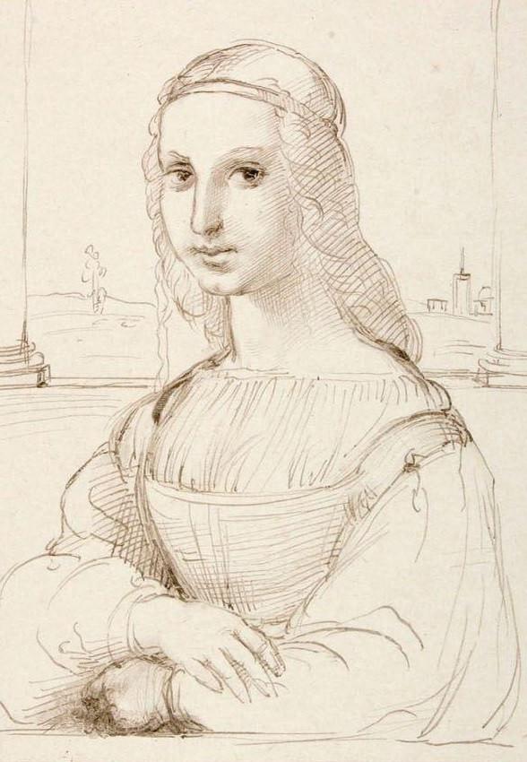 Le dessin de Raphaël vers 1504.