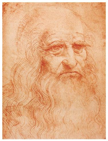 Leonardo da Vinci autoportrait - Self po
