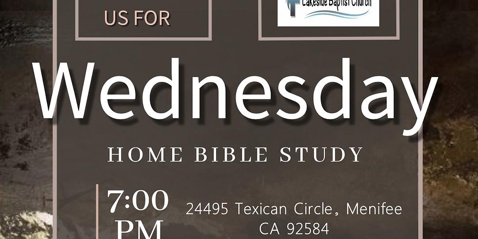 Wednesday Home Bible Study