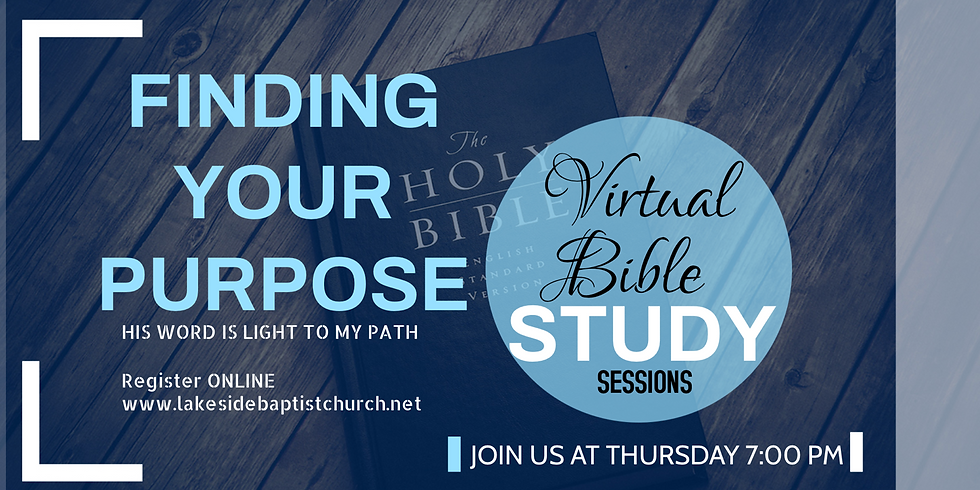 Finding Your Purpose Virtual Study