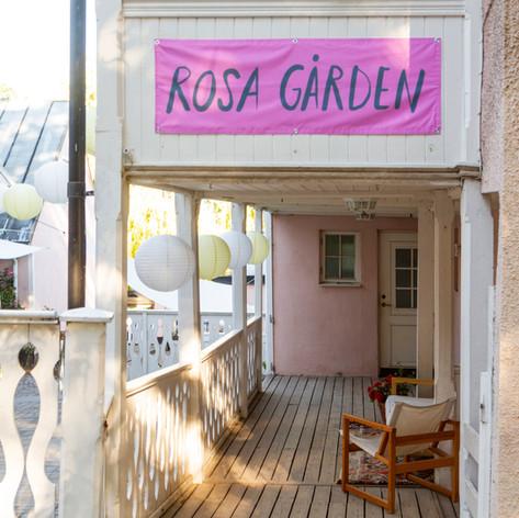 Vy från östra entrén till Rosa Gården