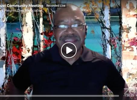 Watch the August LHCA Community Meeting