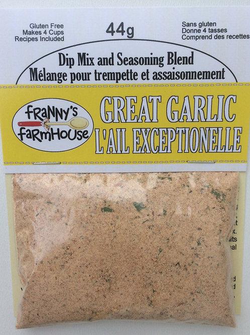 Great Garlic Dip Mix and Seasoning Blend