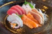 Sashim plate of San Shi Go Laguna Beach