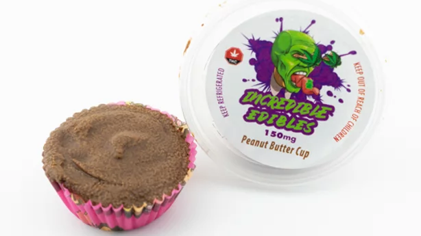 Incredible edibles peanut butter cup 150mg