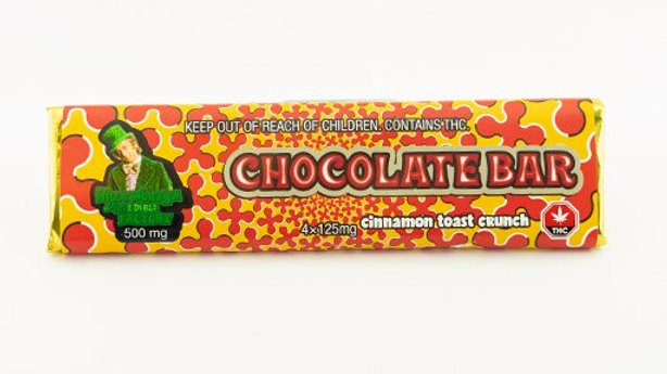 Willy Wonka Chocolate Bar 500mg (Cinnamon Toast Crunch)